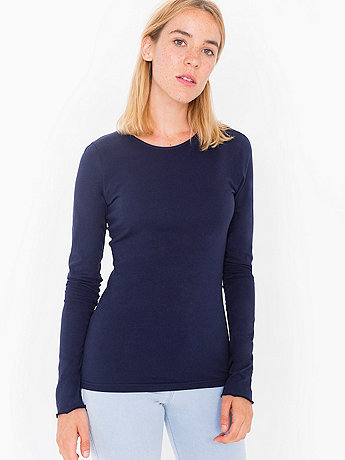Sheer Jersey Long Sleeve T