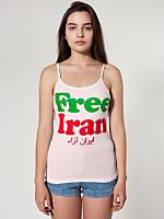 Free Iran Sheer Jersey Spaghetti Tank