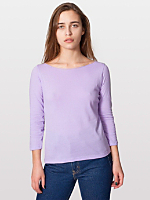 Sheer Jersey 3/4 Sleeve Boat Neck