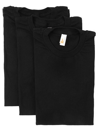 Sheer Jersey Short Sleeve  Summer T-Shirt (3-Pack)