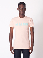 Printed Sheer Jersey Short Sleeve Summer T-Shirt