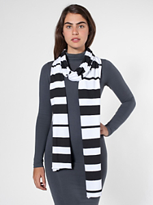Unisex Printed Sheer Jersey Scarf