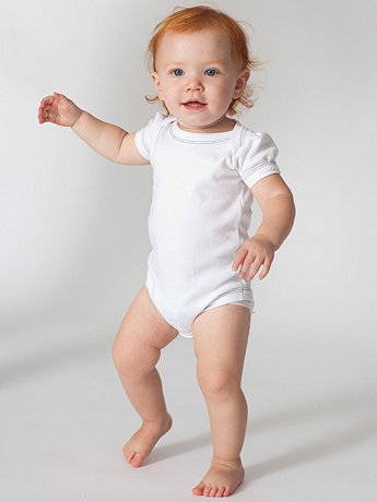Infant Interlock Short Sleeve One-Piece