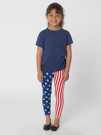 Kids' Printed Cotton Spandex Jersey Legging