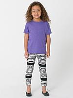 Kids Printed Cotton Spandex Jersey Legging