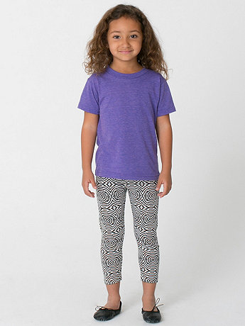 Kids Printed Cotton Spandex Jersey Legging