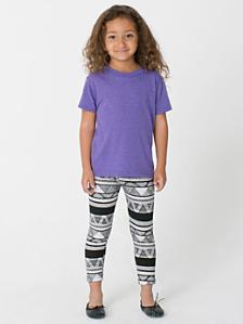 Kids' Afrika Print Cotton Spandex Jersey Legging
