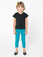Kids Polka Dot Cotton Spandex Jersey Legging