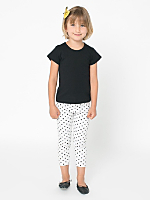 Kids' Polka Dot Cotton Spandex Jersey Legging