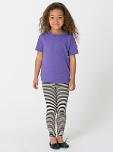 Kids' Stripe Cotton Spandex Jersey Legging
