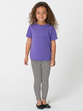 Kids Stripe Cotton Spandex Jersey Legging