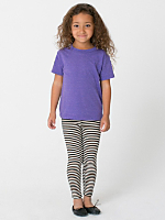 Kids Stripe Cotton Spandex Jersey Legging