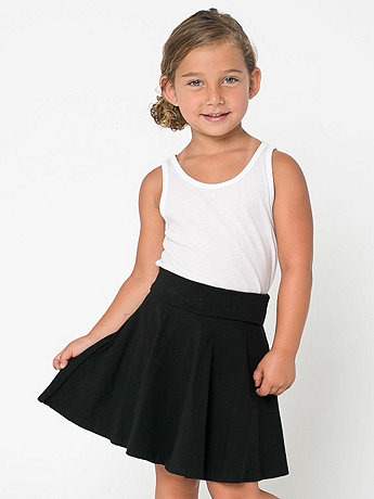 Kids' Cotton Spandex Jersey Wide Waistband Skirt