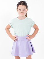 Kids Cotton Spandex Jersey Wide Waistband Skirt