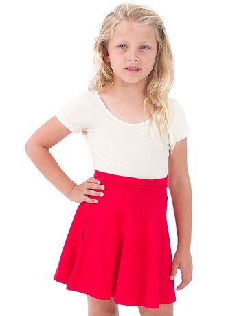 Kids Cotton Spandex Jersey Wide Waistband Skirt