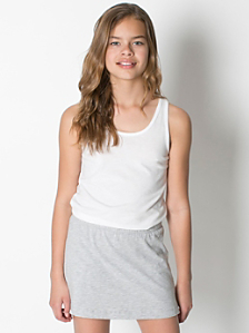 Youth Cotton Spandex Jersey Skort