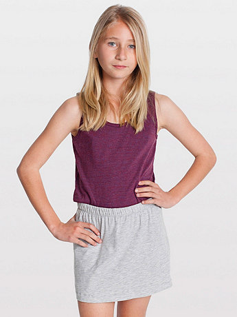 Youth Cotton Spandex Jersey Skort