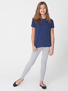 Youth Cotton Spandex Jersey Legging