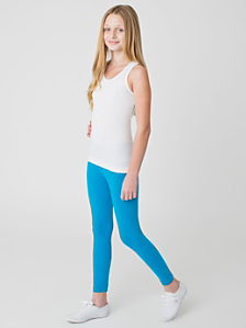 Youth Cotton Spandex Jersey Legging