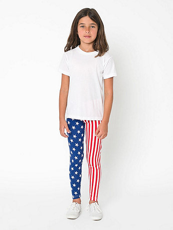 Youth Printed Cotton Spandex Jersey Legging