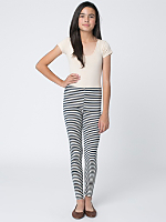 Youth Stripe Cotton Spandex Jersey Legging