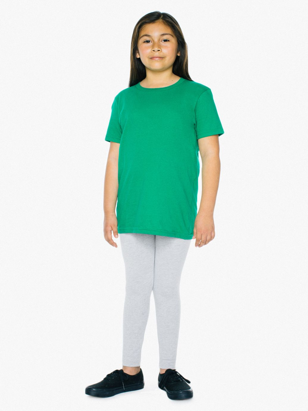 Cotton Spandex Youth Leggings by American Apparel