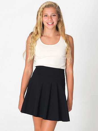 Youth Cotton Spandex Jersey Wide Waistband Skirt