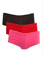 Cotton Spandex Jersey Hot Short (3-Pack)