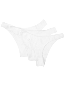 Cotton Spandex Jersey Invisi-Thong (3-Pack)