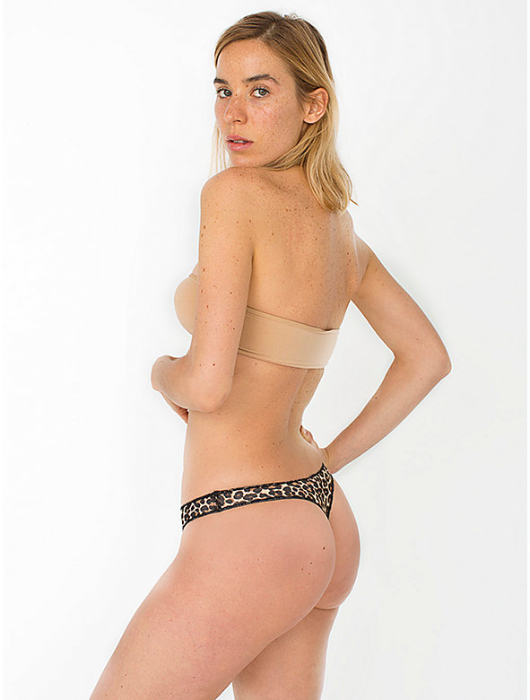 Leopard Print Cotton Spandex Jersey Invisi-Thong