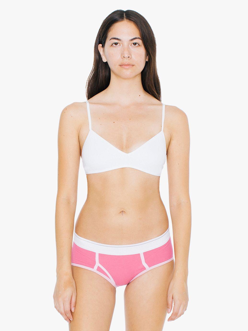 American Apparel Cotton Spandex Jersey Boy Brief Pink