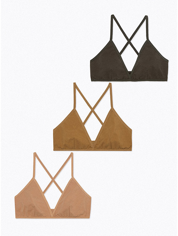 Cotton Spandex Jersey Crossback Bra