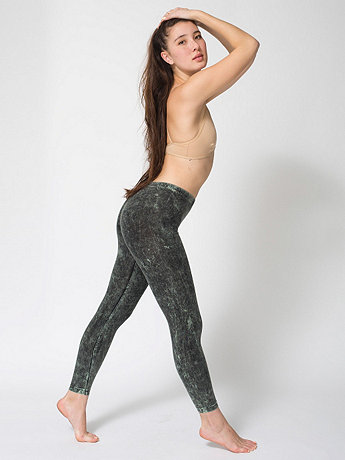 Acid Wash Cotton Spandex Legging