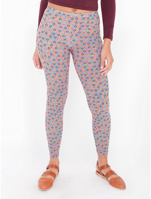 Print Cotton Spandex Jersey Legging