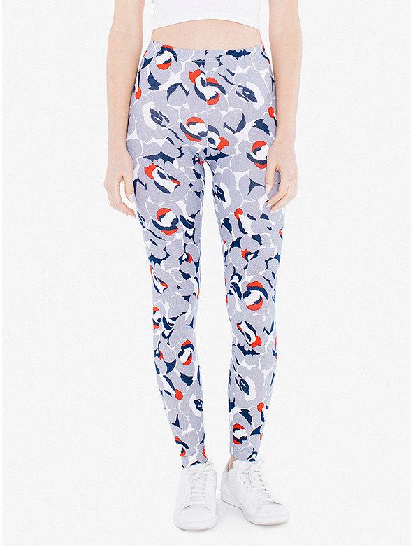 Print Cotton Spandex Jersey Legging