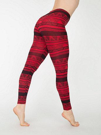 Afrika Print Cotton Spandex Jersey Legging