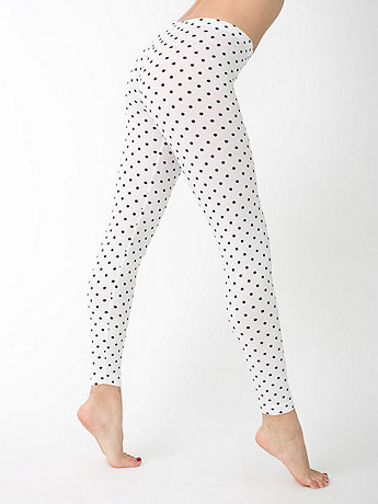 Polka Dot Cotton Spandex Jersey Legging