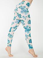 Floral Print Cotton Spandex Jersey Legging