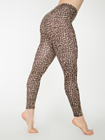 Leopard Print Cotton Spandex Jersey Legging