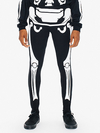 Glow Skeleton Cotton Spandex Jersey Legging