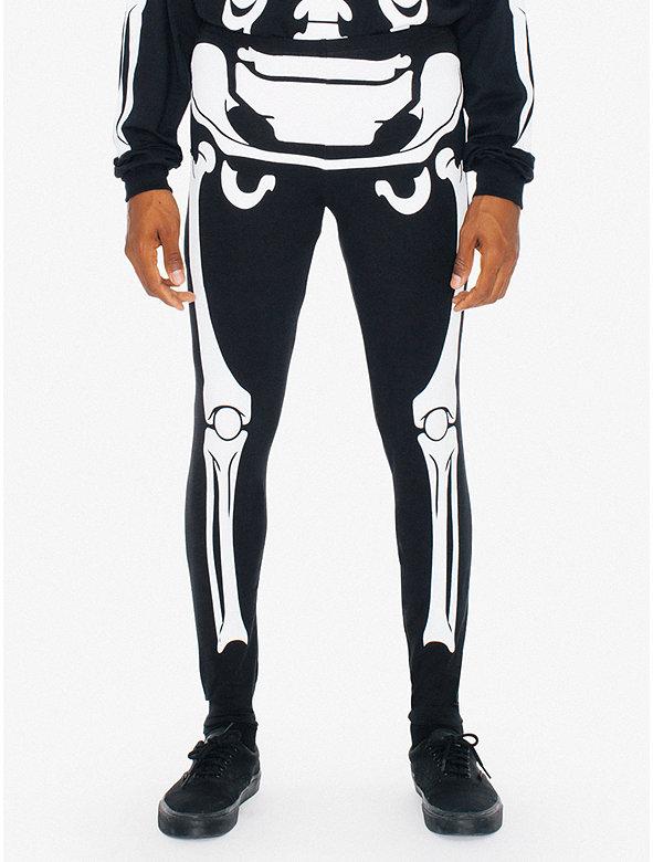 Glow Skeleton Cotton Spandex Jersey Legging