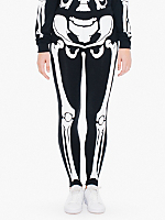 Unisex Glow Skeleton Cotton Spandex Jersey Legging