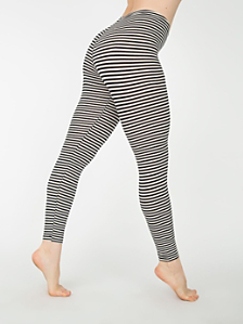 Stripe Cotton Spandex Jersey Legging