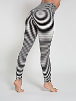 Stripe Cotton Spandex Jersey Legging