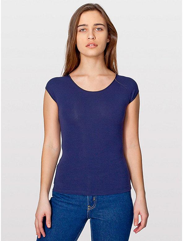 Cotton Spandex Jersey Aerobic Top