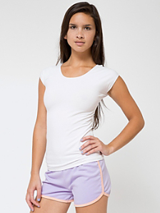 Cotton Spandex Jersey Aerobic Top