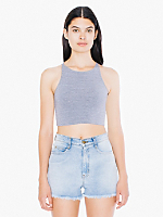 Cotton Spandex Sleeveless Crop Top