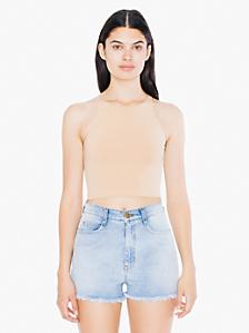 Cotton Spandex Sleeveless Crop Top