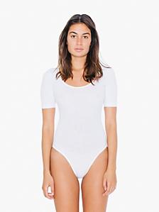 Cotton Spandex Jersey Short Sleeve T-Shirt Leotard