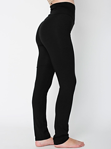 Cotton Spandex Jersey Straight Leg Yoga Pant